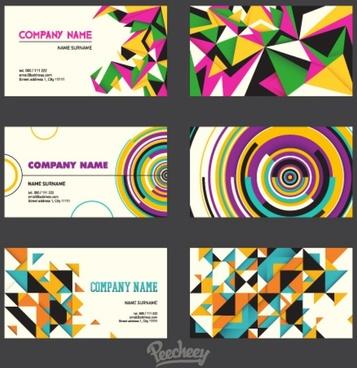 retro set of business cards