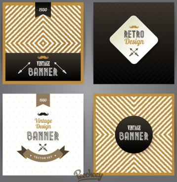 retro style banners