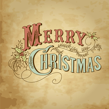 retro style christmas background design
