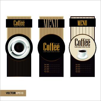 retro style coffee menu design