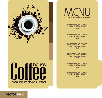 retro style coffee menu design