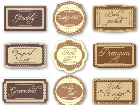 retro style creative labels vector