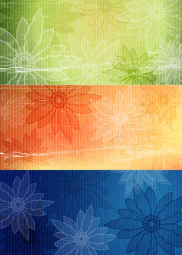 retro style flower background vector