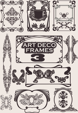 retro style frames design element