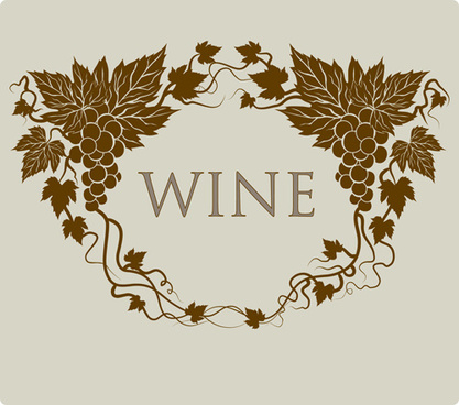 retro style grape wine background vector
