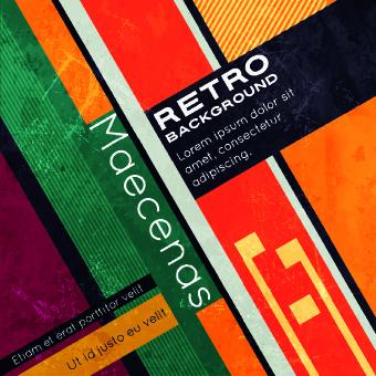 retro style grunge vector background