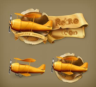 retro style labels design vector