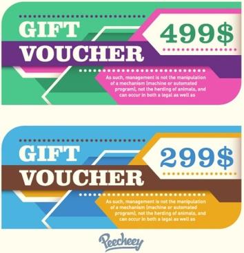retro stylized gift voucher template