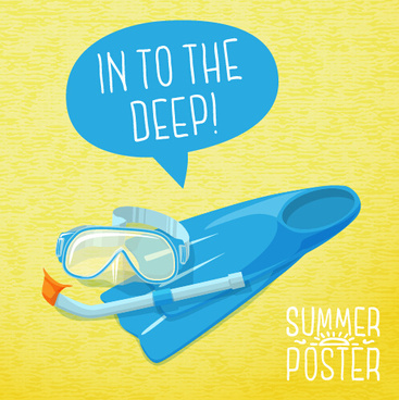 retro summer advertising poster vector set