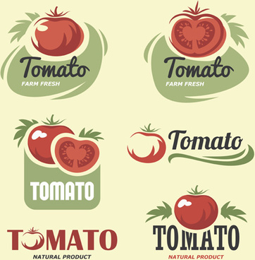 retro tomato logos creative design vector