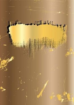 abstract background grunge retro design yellow ink decor