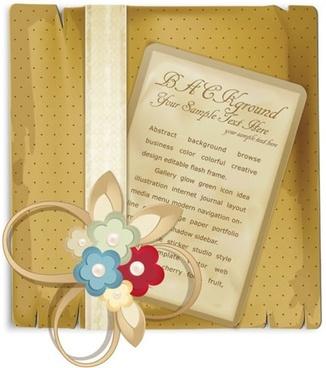 decorative background retro flora knot decor