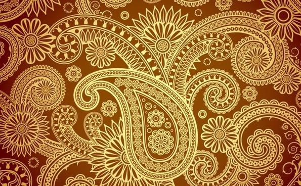 traditional silk backgound retro damask decoration