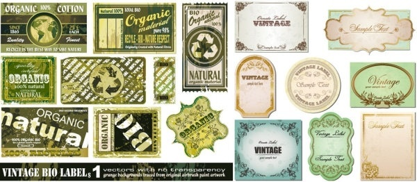 retro vector to do the old label