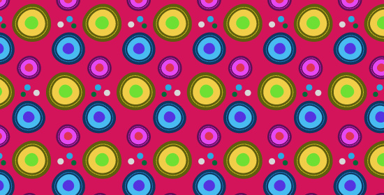 retro vibrant illustrator pattern