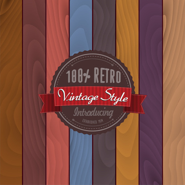 retro vintage style badge template