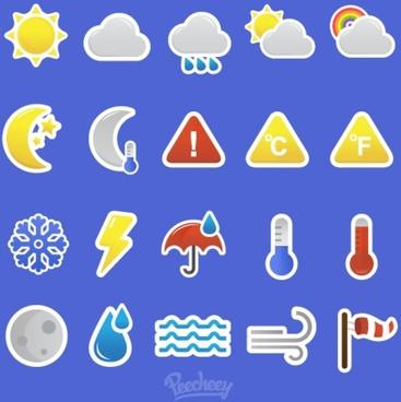retro weather icons