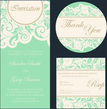 Wedding invitation card format free vector download 219275 Free
