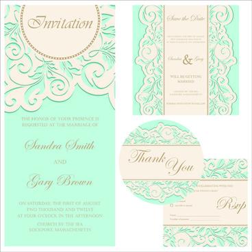 retro wedding invitation cards design