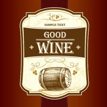 retro wine creative poster vector
