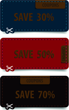 retro with grunge style tags vector
