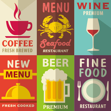 retro with vintage restaurant menu cover vector graphics