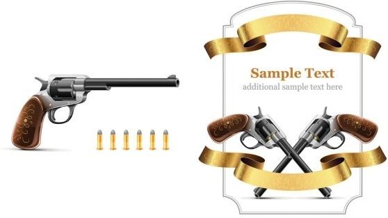 revolver theme vector
