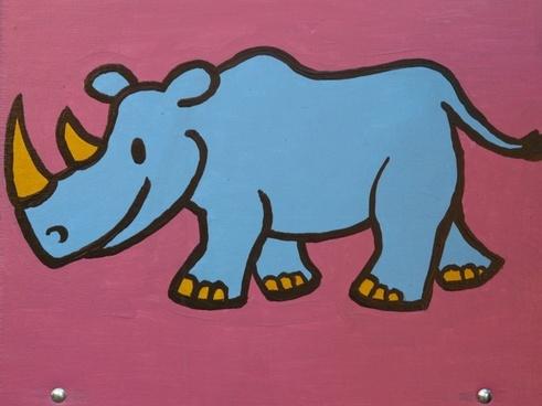 rhino cartoon character drawing