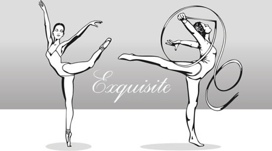 rhythmic dancer icons black white cartoon sketch