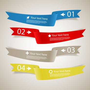 ribbon banner infographic