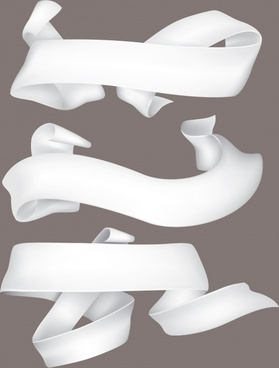 ribbon banner templates 3d dynamic curled shapes