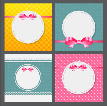 ribbon bow with card vector design