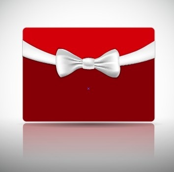 ribbon christmas card vector