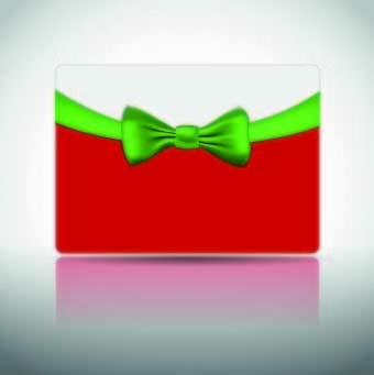 ribbon christmas card vector