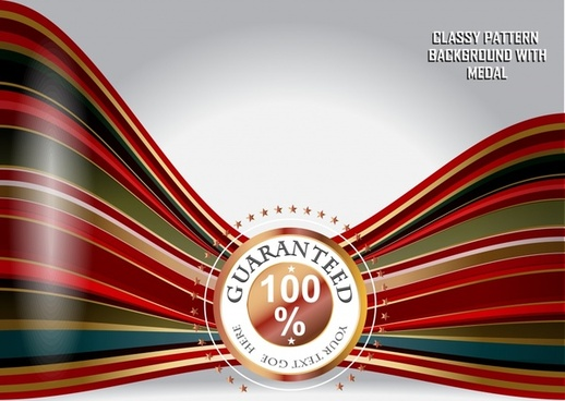 quality guarantee banner shiny 3d modern dynamic lines