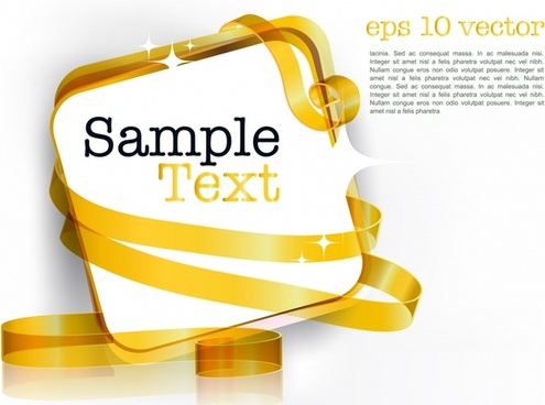 decorative background template twinkling golden ribbon 3d