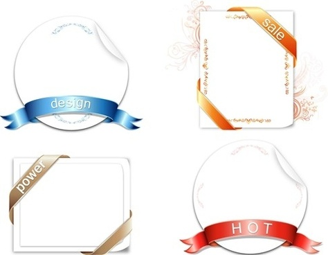 Ribbon Design Vector Graphic