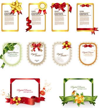 ribbon frames 2 vector