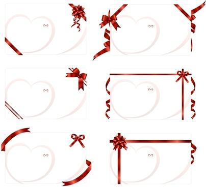 ribbon tied to the blank card vector