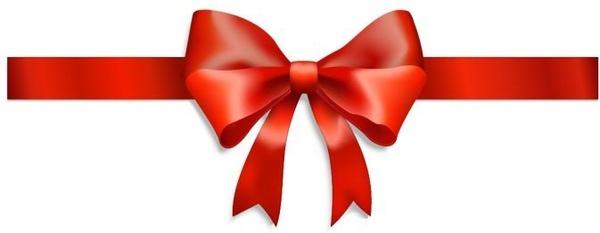 bow ribbon background shiny red 3d decor