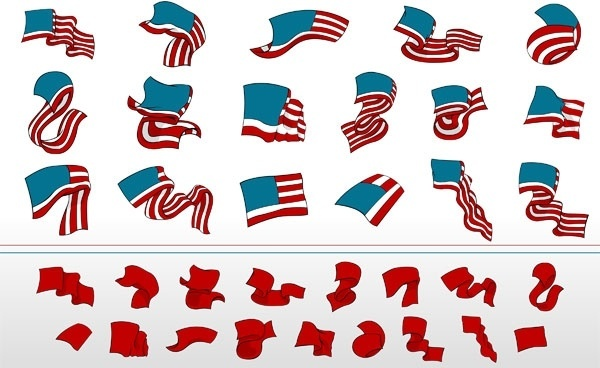 ribbon vector waving flags