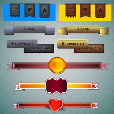 ribbon webdesign element