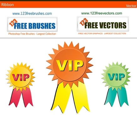 Ribbons free vector