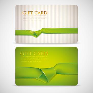 ribbons knot card vector