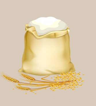 rice bag icon shiny yellow design