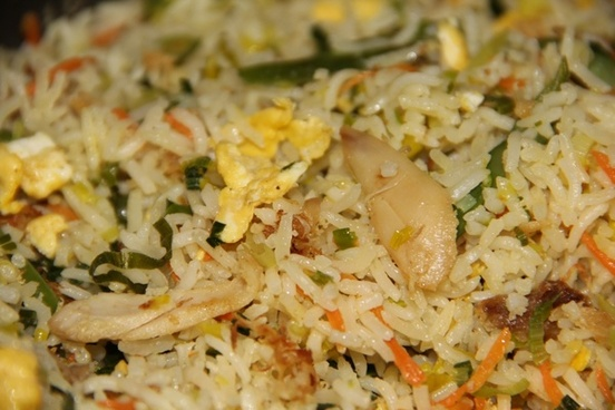 rice fried travel delicious