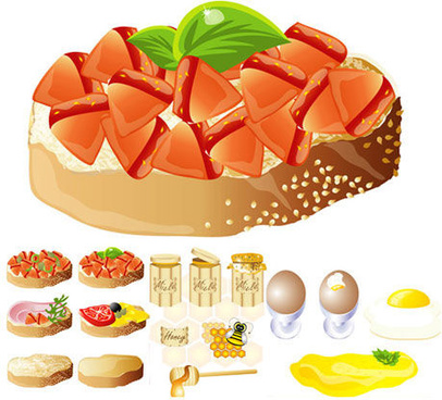 rich and delicious food design vector