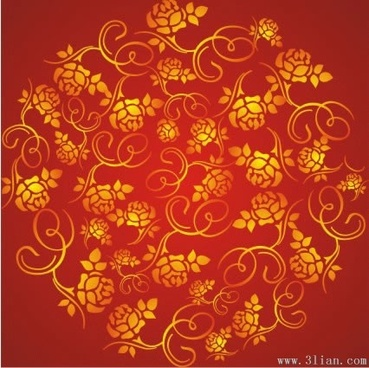 rich red pattern vector