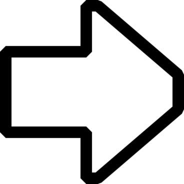 Right Outline Arrow clip art