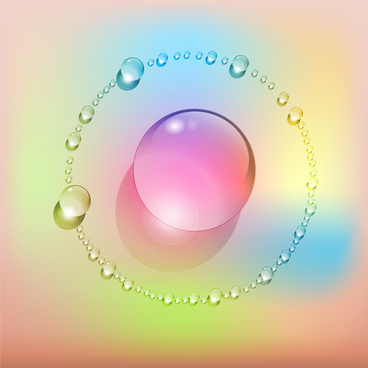 ring of colorful sphere orb background
